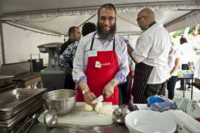 Rabbi Mendel Kastel at work for the needy